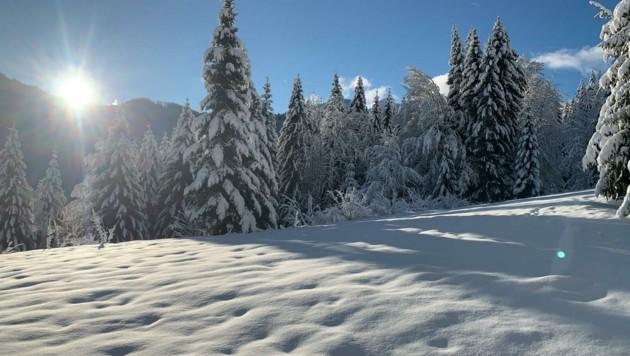 Viel Schnee gab's bisher vor allem im Süden und Westen der Steiermark. (Bild: zVg)