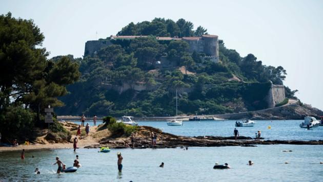 Ein Blick auf die Sommerresidenz des französischen Staatspräsidenten Fort de Brégançon