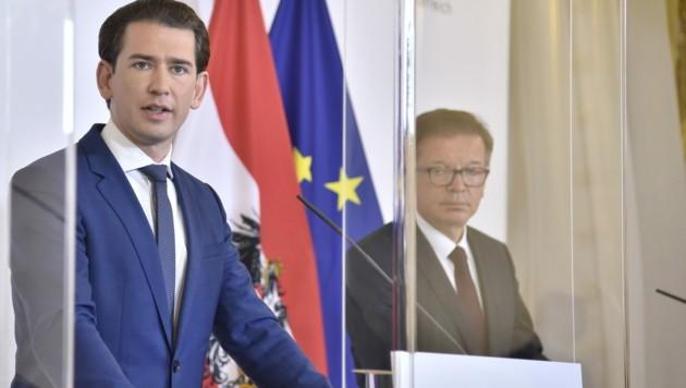 Bundeskanzler Sebastian Kurz und Gesundheitsminister Rudolf Anschober (Bild: APA/HANS PUNZ)