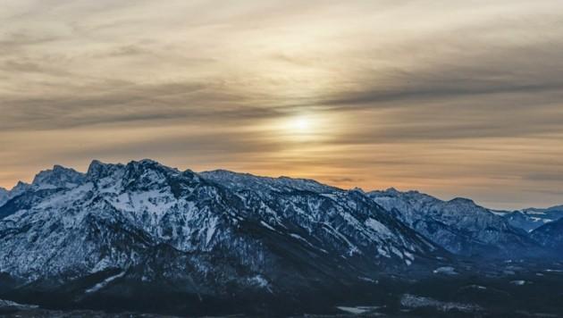 Sonnenuntergang vom Gaisberg aus (Bild: Tschepp Markus)
