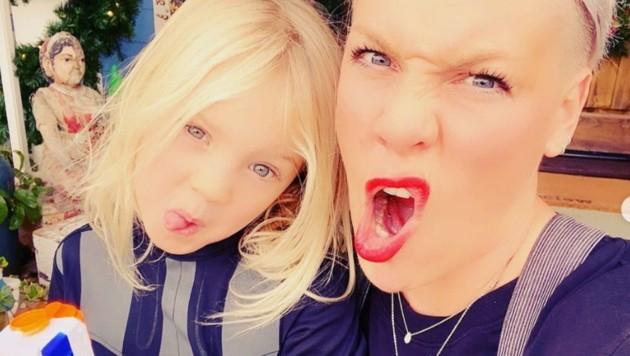 Sängerin Pink feierte mit ihrem Sohn Jameson eine Superhelden-Geburtstagsparty. (Bild: instagram.com/pink)