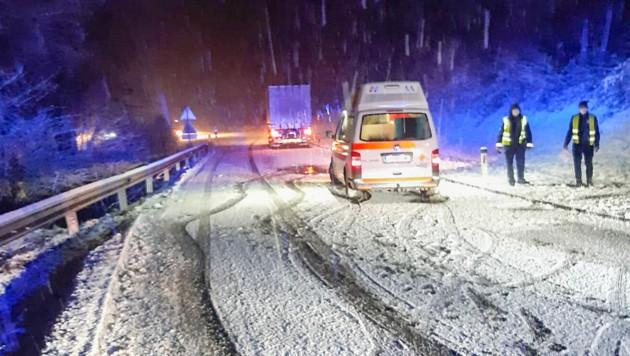 Unfall in St. Stefan im Rosental (Bild: Pressedienst Feuerwehr Patschok)