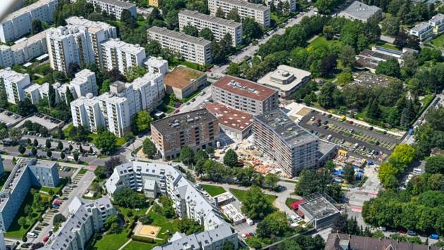 Hier in Oed in der Europastraße errichtet die WAG 146 geförderte Mietwohnungen in Niedrigstenergiebauweise. (Bild: heimo.pertlwieser@liwest.at)