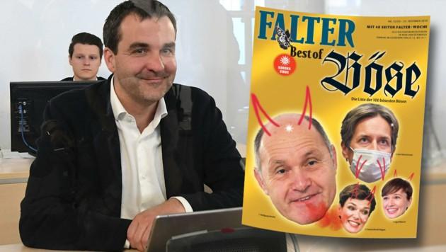 """""""Falter""""-Chefredakteur Florian Klenk verteidigt sich gegen die Anschuldigungen: """"Bloß Satire."""""""