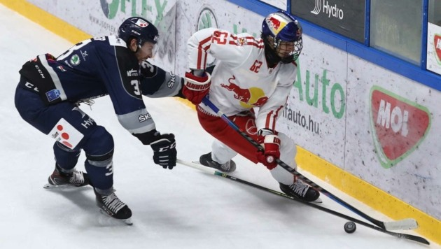 Mit 16 Jahren der Benjamin im Eisbullen-Team: Stürmer Julian Lutz. (Bild: GEPA pictures/ Csaba Doemoetoer)