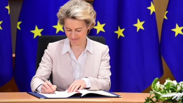 EU-Kommissionschefin Ursula von der Leyen (Bild: twitter.com/Ursula von der Leyen)