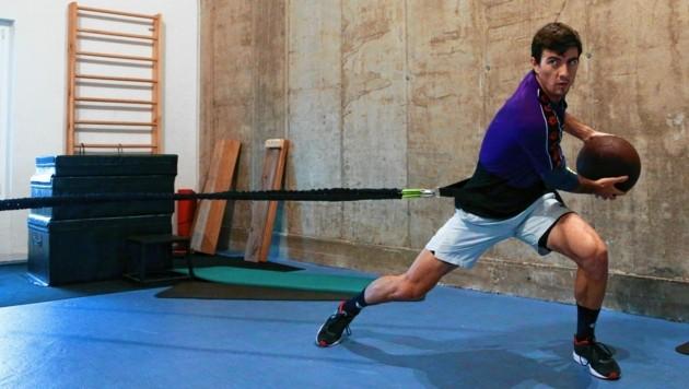 Sebastian Ofner beim Training in Parndorf (Bild: Urbantschitsch Mario)