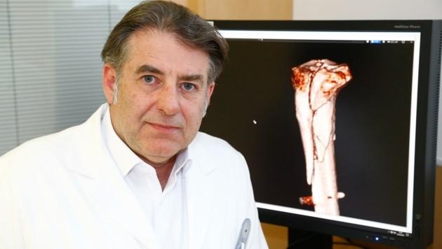 Manfred Mittermair leitet die Unfallchirurgie im Klinikum Schwarzach. (Bild: Gerhard Schiel)