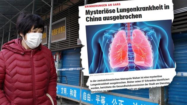 """Am 31. Dezember 2019 berichtete krone.at erstmals über die """"mysteriöse Krankheit in China."""