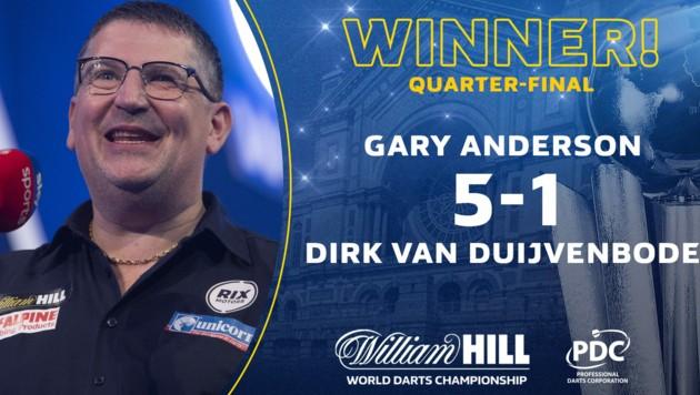 Ex-Weltmeister Gary Anderson (Bild: PDC Darts)