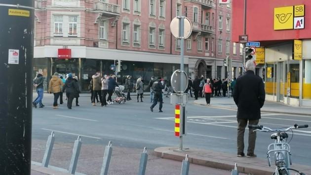 Laut den Veranstaltern sei der Sicherheitsabstand stets eingehalten worden. (Bild: Benjamin Kranzl)