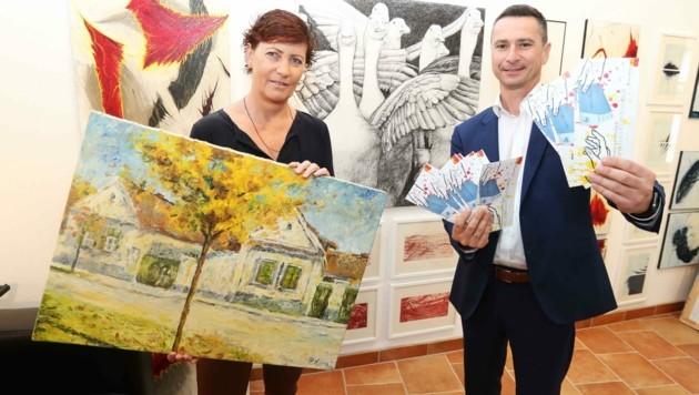 Robert Hergovich stattete Petra Neulinger einen Besuch ab