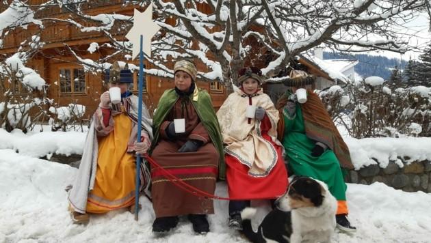 In Tamsweg zogen die Heiligen Drei Könige Caspar, Melchior und Balthasar von Haus zu Haus. (Bild: Tanja Doppler-Kössler)