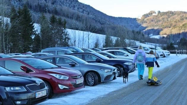 Die Tagestouristen sorgten für Parkplatzchaos