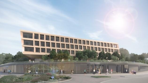 Nahversorgerzentrum in Salzburg-Itzling als Leuchtturm-Vorhaben um 40 Millionen Euro (Bild: Raiffeisen)