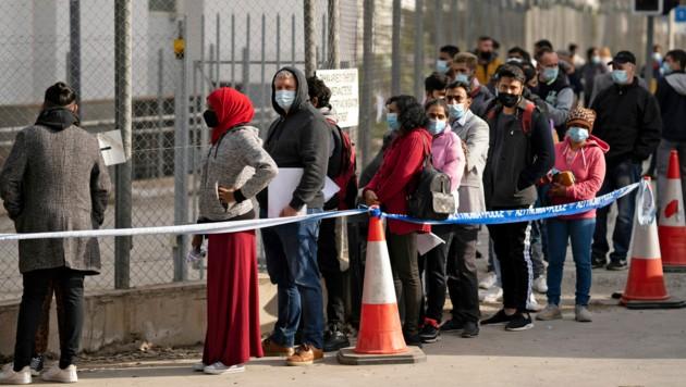 Fast täglich kommen in Zypern Migranten aus dem Nahen Osten an, die auf ein besseres Leben hoffen. (Bild: AFP)