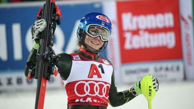 Holte auch schon dreimal den großen Flachau-Siegerscheck: Mikaela Shiffrin. (Bild: Tröster Andreas)