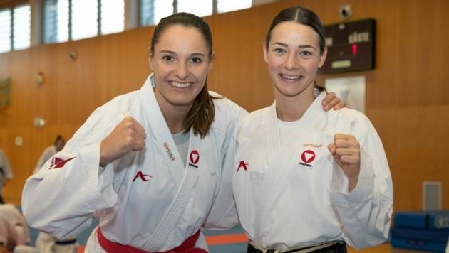Karate-Aushängeschilder: Alisa Buchinger (li.), Bettina Plank.