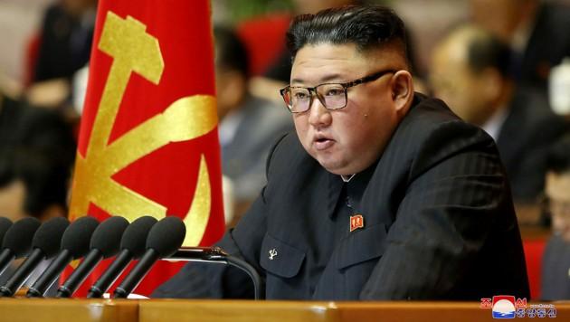 Kim Jong Un auf einer Aufnahme Anfang 2021 (Bild: APA/AFP/KCNA VIA KNS/STR)