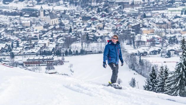 Pistenchef Herbert Hauser im Rahmen der FIS-Schneekontrolle auf der Streif in Kitzbühel (Bild: APA/EXPA/ STEFAN ADELSBERGER)