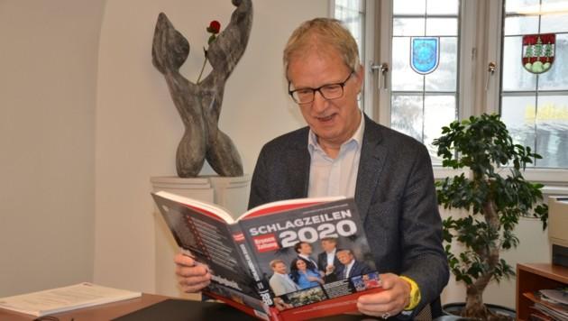 Alois Oberer möchte im letzten vollen Amtsjahr noch Schlagzeilen liefern (Bild: Hubert Daum)