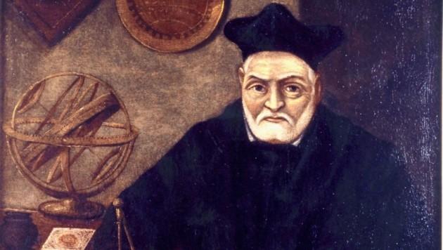 Ein Bildnis von Mathematiker Paul Guldin, der 1617 an die Uni Graz ging.
