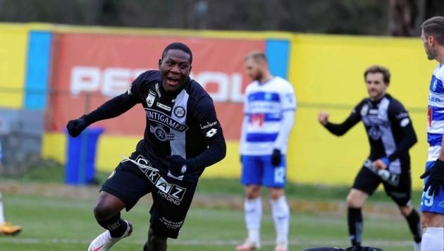 Francisco Mwepu traf zum 3:2-Testsieg von Sturm gegen Osijek.