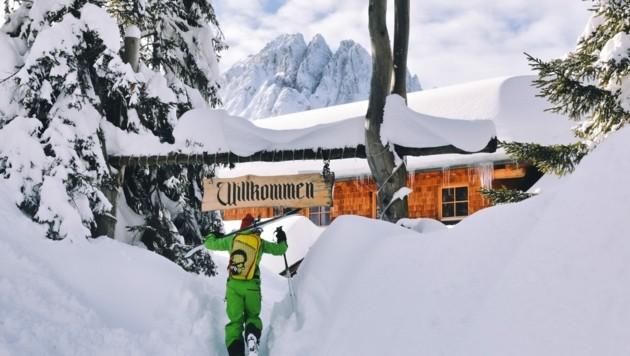 Die Dolomitenhütte ist das zu Hause von Scarlett (Bild: Hannes Wallner)