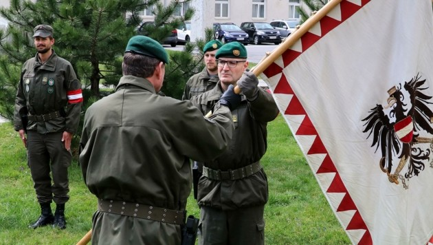 Der neue Kommandant übernahm die Führung bei einer Kommando-Einsatzübergabe.