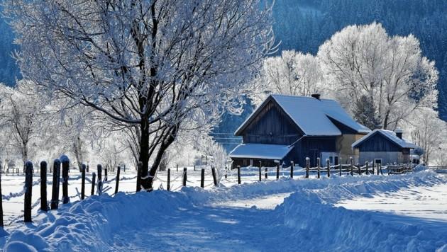 Klirrend kalt aber sehr schön: so schaut es in St. Michael im Lungau im Moment aus. (Bild: Roland Holitzky)