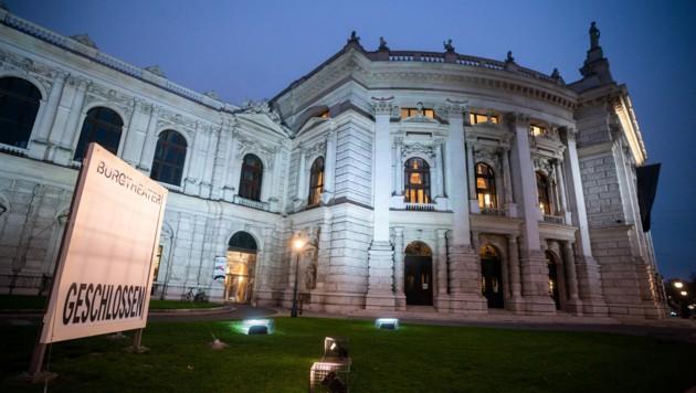Das geschlossene Burgtheater in Wien (Bild: APA/GEORG HOCHMUTH)