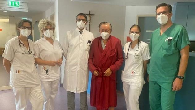 Richard Lugner darf am Dienstag das Spital schon wieder verlassen. (Bild: zVg)