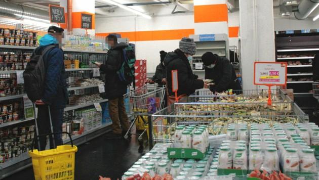 In den Sozialmärkten des Wiener Hilfswerks herrscht großer Andrang.