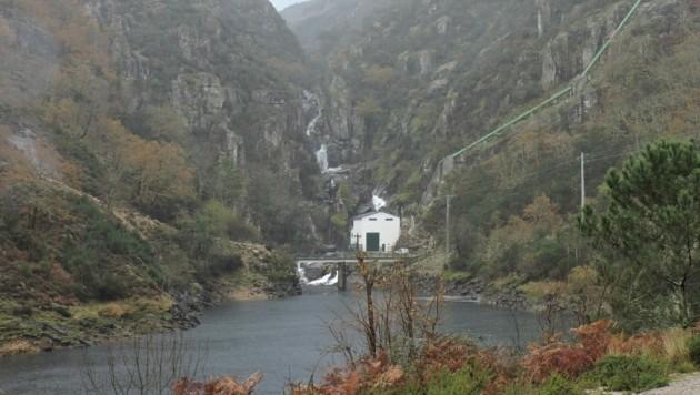 Das Kraftwerk in Ruivares in Portugal.