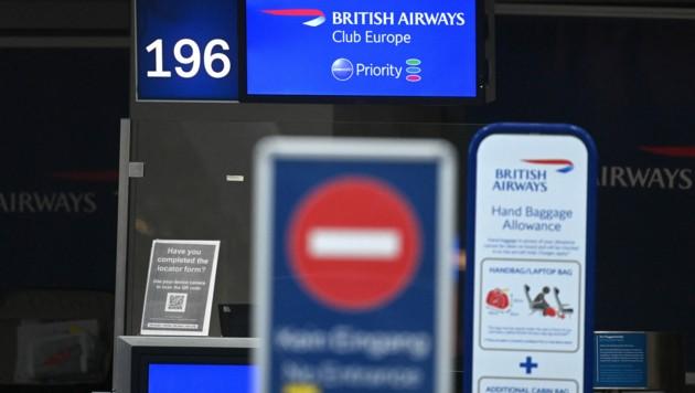 Rund um den Jahreswechsel trat aufgrund der Corona-Situation in Großbritannien schon einmal ein Landeverbot in Kraft. (Bild: AFP/Ina FASSBENDER)