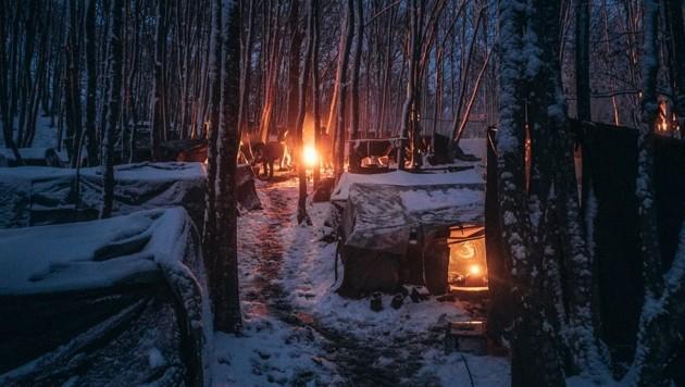 Ein Lager für Migranten in Bosnien, Symbolbild (Bild: Karawane der Menschlichkeit)