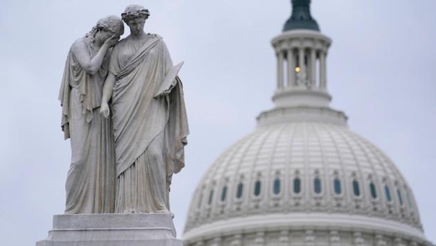 Hat auch schon erfreulichere Zeiten gesehen: das Peace Monument vor dem Kapitol in Washington