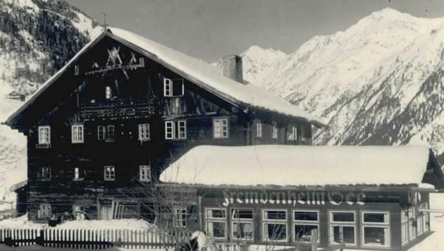 """Gernat erholte sich im Winter 1945/46 auch im """"Fremdenheim See"""". (Bild: Ötztaler Museen)"""