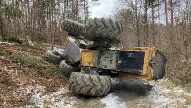 Schwerer Forstunfall in Piringsdorf. (Bild: FF Piringsdorf)