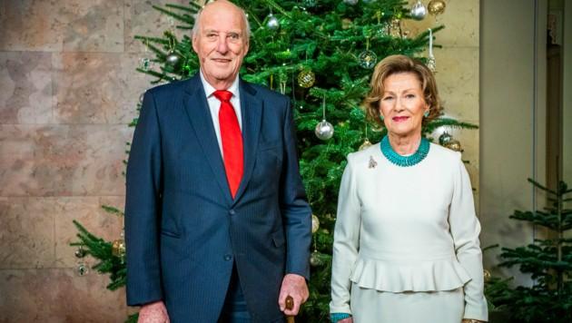 Der norwegische König Harald V. (83) und seine Frau Königin Sonja (Bild: APA/Photo by Håkon Mosvold Larsen / NTB / AFP)