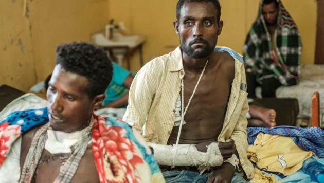 Bild vom November 2020: Nach einem Angriff werden verwundete Männer in einem Spital versorgt. (Bild: EDUARDO SOTERAS / AFP)