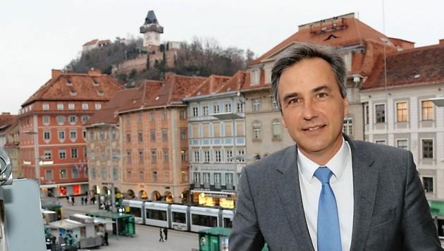 Der Grazer Bürgermeister Siegfried Nagl (Bild: Christian Jauschowetz)