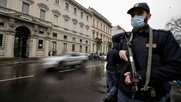 Polizeikontrolle in Mailand