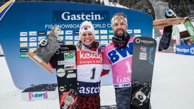 Claudia Riegler und Andreas Prommegger gewannen in Bad Gastein. (Bild: GEPA pictures/ Jasmin Walter)