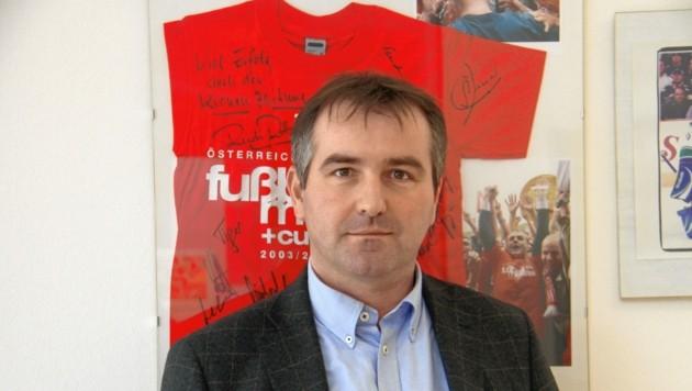 Geschäftsführer Matthias Dielacher relativiert die Gerüchte um den GAK (Bild: Jauschowetz Christian)