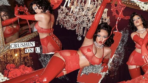 Rihanna gibt schon einen sexy Vorgeschmack auf den Valentinstag. (Bild: instagram.com/badgalriri)