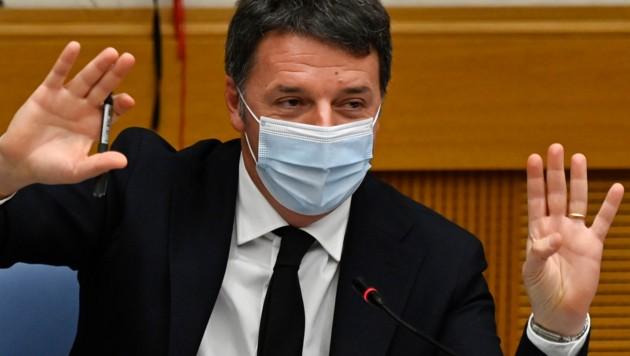 Ex-Premier Renzi (Bild: APA/AFP/POOL/ALBERTO PIZZOLI)