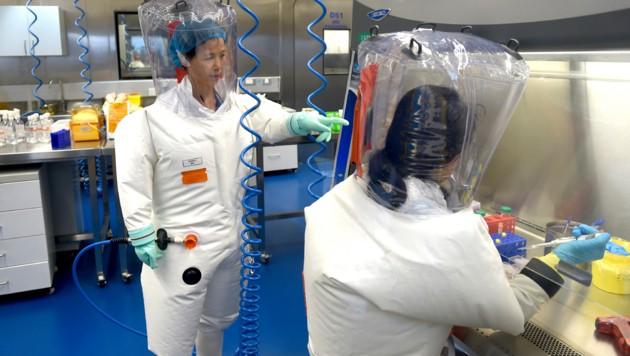Die WHO-Experten durften auch jenes Labor in Wuhan besuchen, das im Verdacht stand, das Virus unabsichtlich verbreitet zu haben. (Bild: ASSOCIATED PRESS)