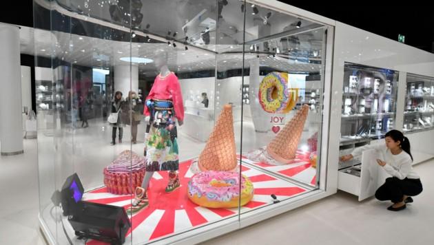 Der Shop in den Swarovski-Kristallwelten in Wattens (Bild: APA/BARBARA GINDL)