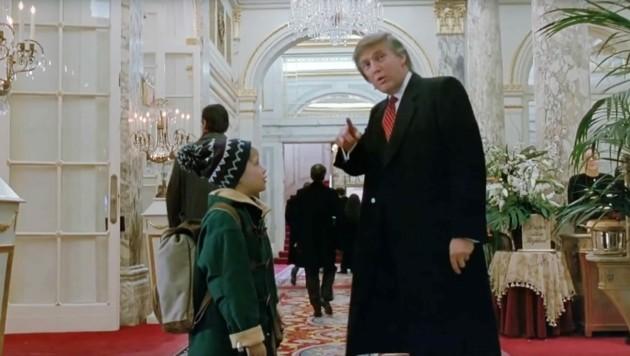 """Macaulay Culkin und Donald Trump in """"Kevin - Allein in New York"""" (Bild: ©20thCentFox / Everett Collection / picturedesk.com)"""